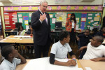 Missouri Governor visits St. Louis elementary school