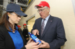 Missouri Governor Nixon cuts ribbon on Anheuser-Busch's expanded aluminum manufacturing plant